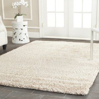 Safavieh Shag Collection SG151 1313 Beige Shag Area Rug, 8 Feet by 10 Feet   Cozy Beige Shag Rug