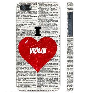 SudysAccessories I Love Heart Violin On Dictionary iPhone 5 Case iPhone 5G Case   SoftShell Full Plastic Direct Printed Graphic Case Cell Phones & Accessories