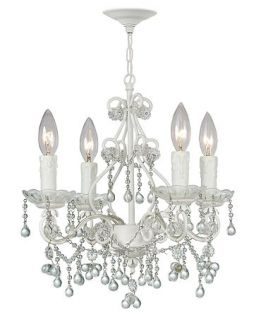 Crystorama Paris Flea Market Wet White 5 Light Mini Chandelier   Lighting & Lamps   For The Home