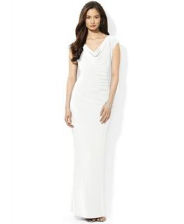 Lauren Ralph Lauren Dress, Cap Sleeve Cowl Neck Gown   Dresses   Women