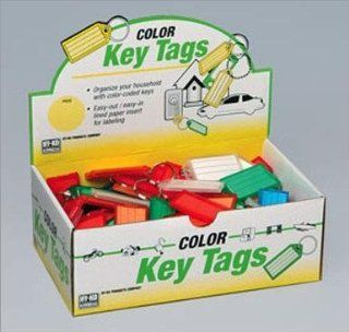 Hy Ko KB143 100 Easy Open Plastic Key Tag with Split Ring (Box of 100)