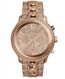 Michael Kors Womens Camille Glitz Rose Gold Tone Stainless Steel Bracelet Watch 43mm MK5862   Watches   Jewelry & Watches