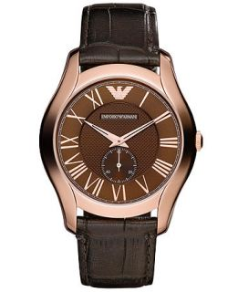 Emporio Armani Watch, Mens Dark Brown Croco Leather Strap 43mm AR1705   Watches   Jewelry & Watches
