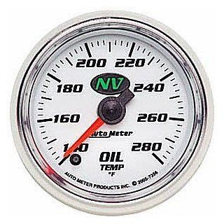 "Auto Meter 7356 NV 2 1/16"" 140 280 F Full Sweep Electric Oil Temperature Gauge Automotive"