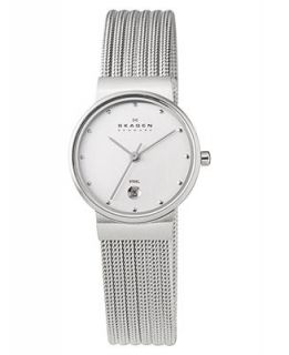 Skagen Denmark Watch, Womens Stainless Steel Mesh Bracelet 355SSS1   Watches   Jewelry & Watches