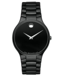 Movado Mens Swiss Black PVD Bracelet Watch 38mm 0606307   Watches   Jewelry & Watches