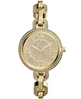 Michael Kors Womens Delaney Tortoise and Gold Tone Stainless Steel Link Bracelet Watch 37mm MK4281   Watches   Jewelry & Watches
