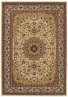 Couristan 7010/0003 IZMIR Royal Kashan 94 Inch by 134 Inch Polypropylene Area Rug, Cream