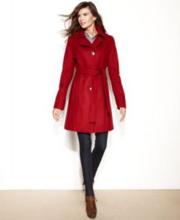 Anne Klein Petite Belted Cashmere Wool Blend Coat   Coats   Women