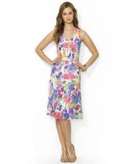 Lauren Ralph Lauren Sleeveless Paisley Print Dress   Dresses   Women