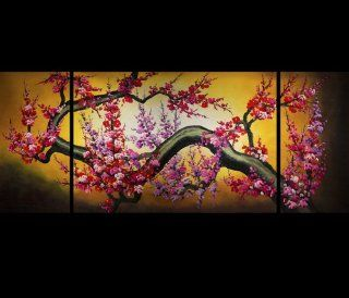 HUGE MODERN CONTEMPORARY ABSTRACT OIL PAINTING Asian Painting, Asian Artwork, Cherry Blossom Oil Painting 134   Watercolor Paintings