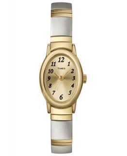 Timex Watch, Womens Two Tone Stainless Steel Bracelet T2M443UM   Watches   Jewelry & Watches