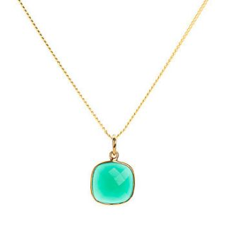 emerald green onyx gold vermeil necklace by elizabeth raine