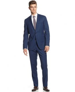 Bar III Suit, Cobalt Blue Solid Slim Fit   Suits & Suit Separates   Men