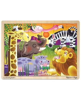 Melissa and Doug Kids Toy, African Plains 24 Piece Jigsaw Puzzle   Kids