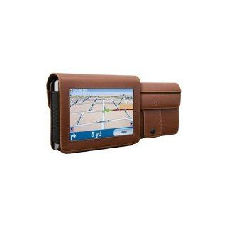 DLO DLG24199/17 4.3 Inch TravelFolio GPS Leather Case (Brown) GPS & Navigation