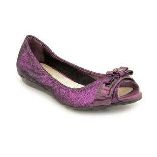 Cole Haan Janelle Womens Size 5.5 Purple Open Toe Fabric Flats Shoes Shoes