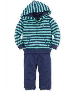 Ralph Lauren Baby Set, Baby Boys 2 Piece Sweatshirt and Sweatpants   Kids
