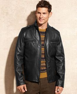 Kenneth Cole Reaction Jacket, Leather Jacket   Coats & Jackets   Men
