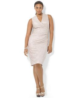 Lauren Ralph Lauren Plus Size Sleeveless Metallic Jersey Dress   Dresses   Plus Sizes