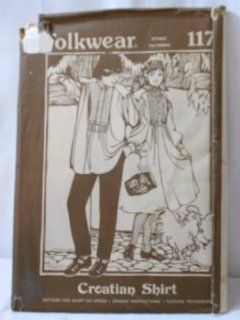 Croatian Shirt Pattern Men and Womens Sizes Peasant Dress during WW II Folkwear 117