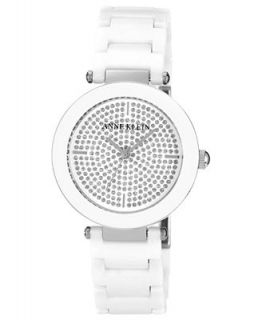 Anne Klein Watch, Womens White Ceramic Adjustable Bracelet 33mm AK 1019PVWT   Watches   Jewelry & Watches
