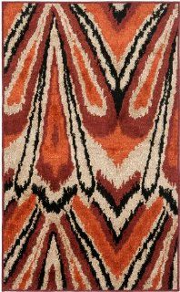 Safavieh KAS114A Kashmir Collection Area Rug, 5 Feet by 8 Feet, Orange   Machine Made Rugs