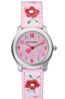 Cannibal Active Pink Flower Leather Strap Girls Watch CK114 14 Watches