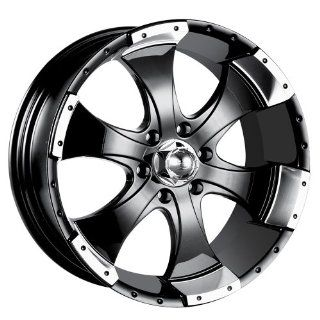"Ion Alloy 136 Black Machined Wheel (15x6""/5x114.3mm) Automotive"