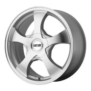 "Ice Metal IW896 Aluminum Wheel with Silver Finish (15x7""/5x108mm) Automotive"