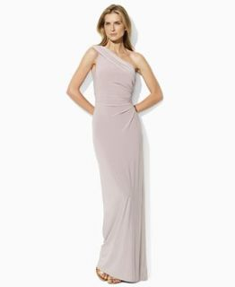 Lauren by Ralph Lauren Dress, One Shoulder Jersey Gown   Dresses   Women
