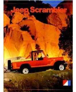 1981 Jeep Scrambler Sales Brochure Literature Book Piece Options Colors Specs Automotive