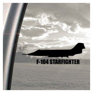F 104 STARFIGHTER Black Decal Military Soldier Car Sticker   Automotive Decals