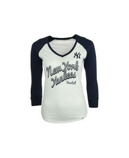 47 Brand Womens New York Yankees Batter Up Raglan T Shirt   Sports Fan Shop By Lids   Men