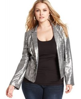 MICHAEL Michael Kors Plus Size Jacket, Sequin Blazer   Jackets & Blazers   Plus Sizes