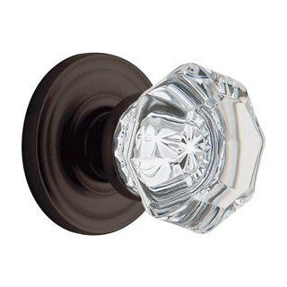 Baldwin Hardware 5080102 IDM Single Dummy 102 Oil Rubbed Bronze Door Hardware Fillmore Crystal Knob Latchset