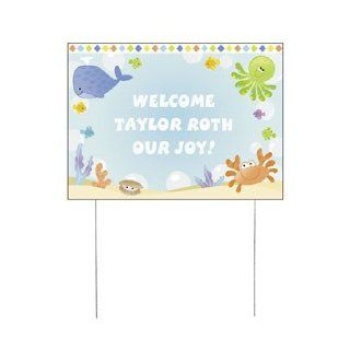 Personalized Under The Sea Boy Yard Sign   Baby Shower & Baby Shower Decorations Health & Personal Care