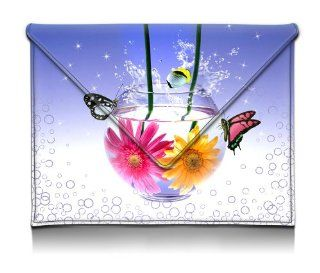 MyGift 8 10.1 inch Colorful Blue Slim Fit Carrying Case with Playful Tropical Fish Daisies & Butterflies Envelope Style Sleeve Tablet Carry Pouch for Kindle 1 2 & 3, Kindle Fire HD, iPad 1 2 & 3, Samsung Galaxy Tab Computers & Accessories