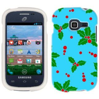 Samsung Galaxy Discover Mistletoe on Baby Blue Pattern Phone Case Cover Cell Phones & Accessories