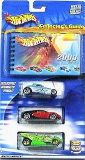 Hot Wheels 2003 Collector's Guide 3 Car Pack and Book Exclusive Paint SOOO Fast Toys & Games