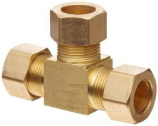 "Anderson Metals Brass Tube Fitting, Tee, 5/8"" x 5/8"" x 5/8"" Compression Pipe Fittings"