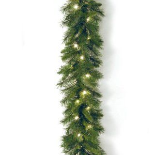 National Tree WCH7 300 9A 1 Winchester Pine Garland with 50 Clear Lights, 9 Feet by 10 Inch   Artificial Christmas Garlands