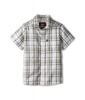 Quiksilver Kids Engineer Pat S/S Button Down Boys Short Sleeve Button Up (Gray)