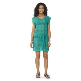 Womens Crochet Cover up Swim Dress  Green S