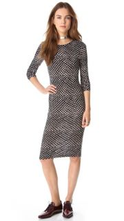 10 Crosby Derek Lam Leopard Print Jersey Dress