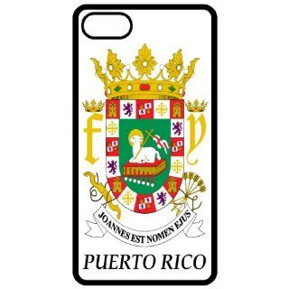 Puerto Rico   Coat Of Arms Flag Emblem Black Apple Iphone 4   Iphone 4s Cell Phone Case   Cover Cell Phones & Accessories