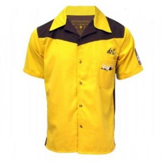 The Big Lebowski Bowling Shirt~ Medina Sod~ Officially Licensed~ Dude Approved, Yellow, XXLarge Clothing