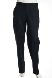 Alfani Men's Blue Pinstripe Flat Front Dress Pants at  Men�s Clothing store