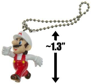 "Fire Mario ~1.3"" Mini Figure Keychain   New Super Mario Bros Wii Series (Japanese Import) Toys & Games"