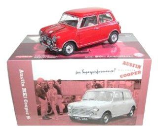 Austin MK1 Mini Cooper S Red 50th Anniversary 1/18 Kyosho Toys & Games